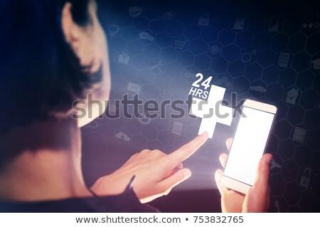 Person touching clinic call center concept Stock photo © ra2studio