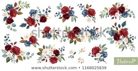 Red white & blue flower arrangements Stock photo © jsnover