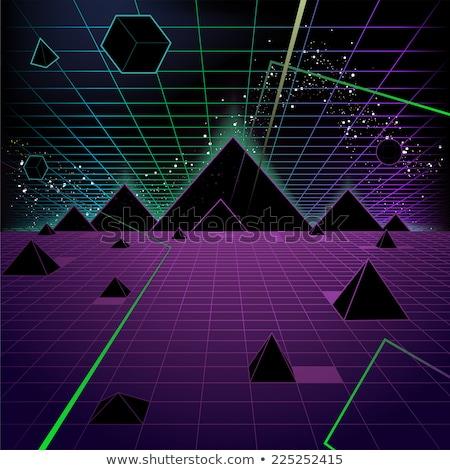 пирамида ретро-стиле моде треугольник Cartoon ретро Сток-фото © tashatuvango