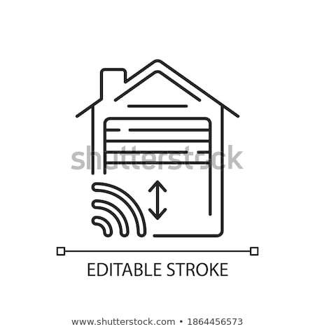 car garage open icon vector outline illustration Stock photo © pikepicture