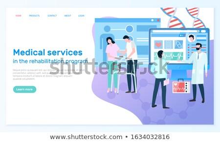 Web sitesi klinik rehabilitasyon program tıbbi hizmetleri Stok fotoğraf © robuart