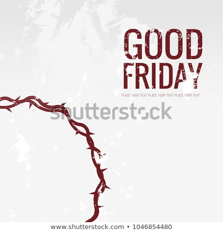 good friday background with cross symbol design Stock photo © SArts