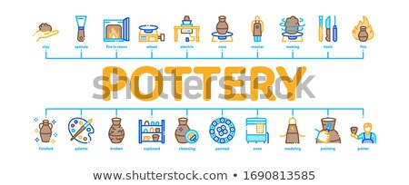 Pottery And Ceramics Minimal Infographic Banner Vector Stock photo © pikepicture
