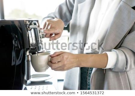 Barista Working at Coffeehouse, Coffee Machine Stock photo © robuart