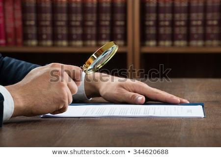 Rechtlichen Untersuchung Lupe Hintergrund Gerechtigkeit Stock foto © AndreyPopov