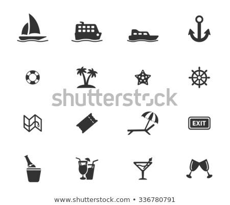 Cruise eenvoudig iconen web icons gebruiker interface Stockfoto © ayaxmr