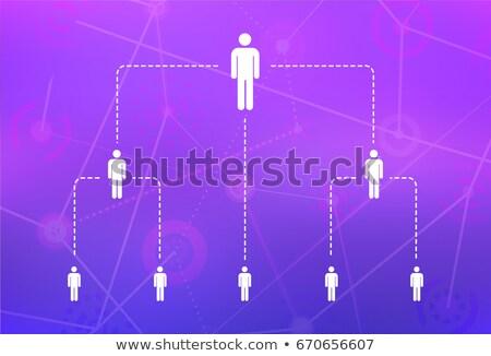Hiërarchie bedrijf eenvoudige persoon witte Stockfoto © evgeny89
