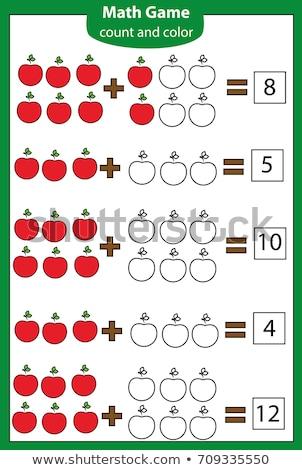 Math educativo gioco bambini scuola ragazzi Foto d'archivio © natali_brill