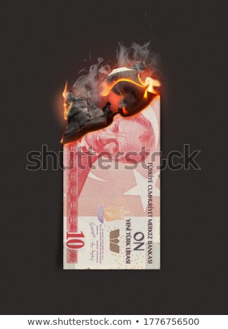 Lira Note Burning Stock photo © albund