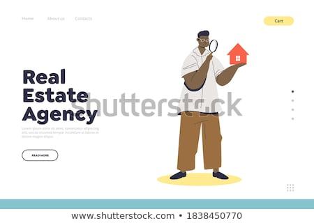 értékbecslés szolgáltatások leszállás oldal ingatlan ügynökség Stock fotó © RAStudio