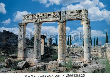 The Roman ruins of Hierapolis  are found at Pamukkale Turkey Stock photo © photoblueice