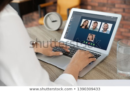 3D · witte · mensen · groep · mensen · praten · chat · geïsoleerd - stockfoto © timbrk