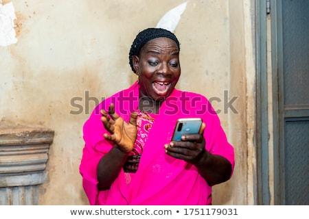 senior African woman Stock photo © poco_bw