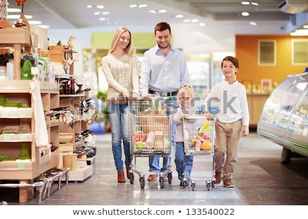 Family with son in cart in shop Stock photo © Paha_L