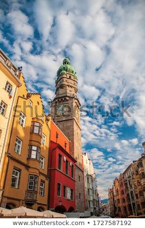 Stock fotó: óváros · óra · torony · kilátás · és · óra