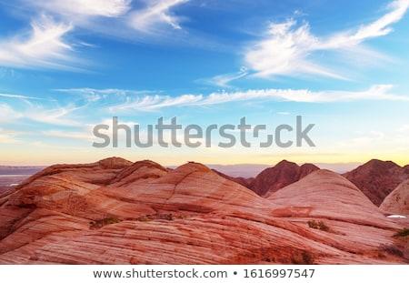 Landschap woestijn rock Rood steen Stockfoto © gwhitton