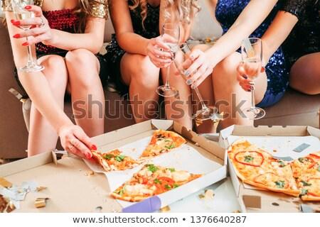 Mini ruha szőke lány nő nők Stock fotó © fotoduki
