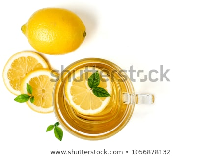 Hot thee citroen huiselijk business achtergrond Stockfoto © OleksandrO