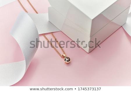 ピンク · 金 · リング · 紫色 · ダイヤモンド · 結婚式 - ストックフォト © magraphics