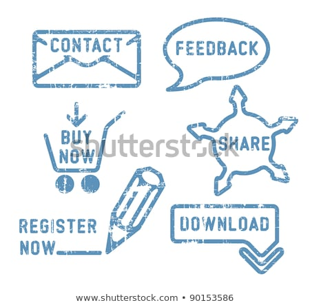 Simple vector contact, feedback, share, buy, download, register stamps Stock photo © orson