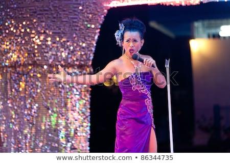 Taylandlı şarkıcı sahne dans güzellik Stok fotoğraf © smithore