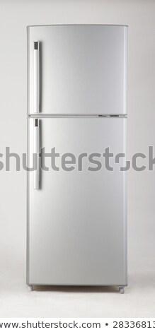 銀 · 冷凍庫 · 白 · 市場 · 電気 · 胸 - ストックフォト © ozaiachin