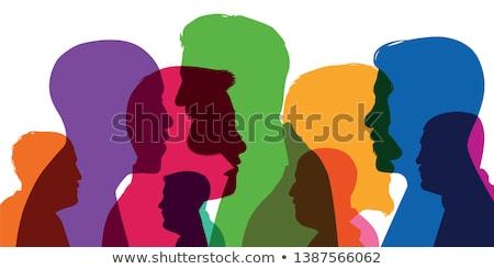 Kolorowy osobowość portret cute młodych student Zdjęcia stock © lithian