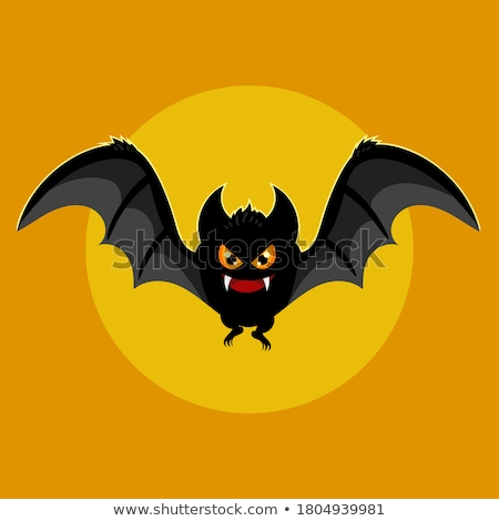 preto · cômico · monstro · vetor · ilustração - foto stock © indiwarm