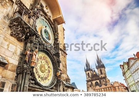 Részlet csillagászati óra Prága óváros előcsarnok Stock fotó © courtyardpix
