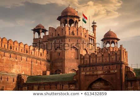 Piros erőd öreg Delhi India híres Stock fotó © johnnychaos