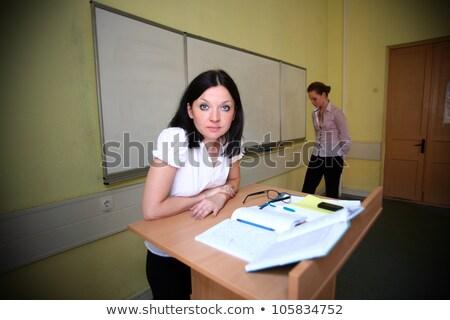 Vesztes diák tanár gonosz iskola oktatás Stock fotó © OleksandrO