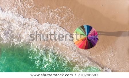 praia · tropical · arco-íris · conchas · céu · nuvens · praia - foto stock © ajlber