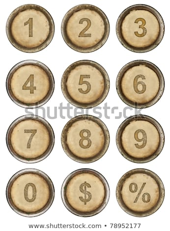 vintage typewriter number keys stock photo © 3mc
