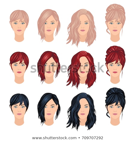 woman with short red hair stock photo © lubavnel