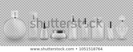 Ayarlamak parfüm şişeler üç cam güzellik Stok fotoğraf © ElaK