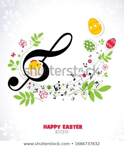Páscoa ilustração musical ovo primavera bebê Foto stock © articular