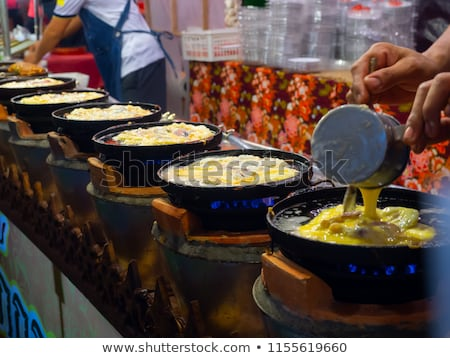 making omelette outdoor stock photo © taviphoto