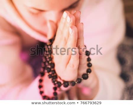 Wooden prayer beads Stock photo © bbbar