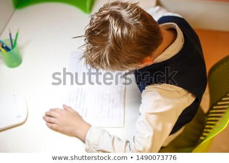 школьник скучно лице мира свет морем Сток-фото © photography33