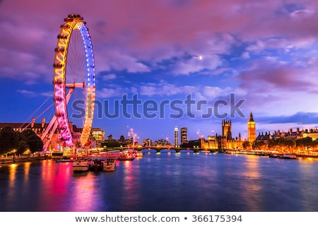 london eye from westminster bridge stock photo © vichie81