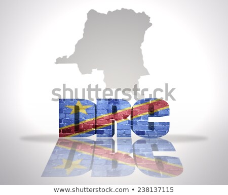Flag of the Democratic Republic of the Congo on brick wall Stock photo © creisinger