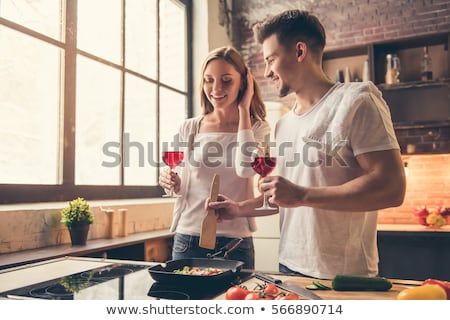 married couple tasting wine stock photo © photography33