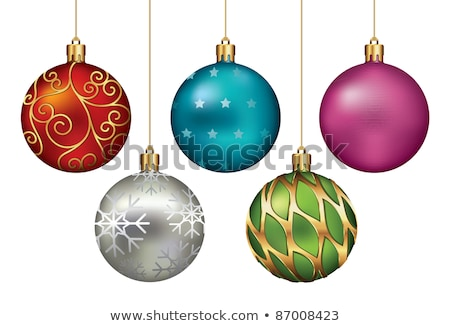 vintage red thread christmas ornament stock photo © ca2hill