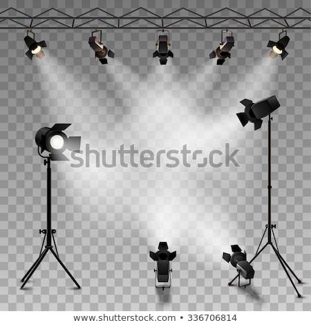 Studio illuminazione apparecchi di illuminazione isolato bianco luce Foto d'archivio © kitch