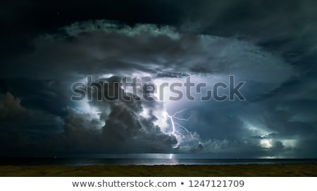 暗い 嵐の 空 背景 嵐 黒 ストックフォト © moses