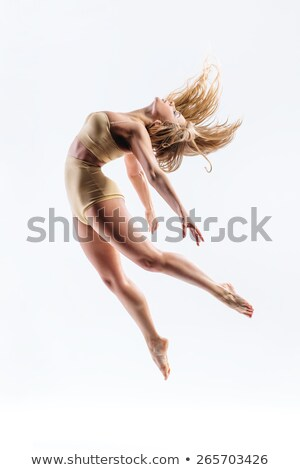 woman dancer in mid-air stock photo © feedough
