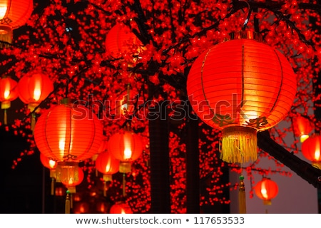 chinese lantern in temple Stock photo © smithore