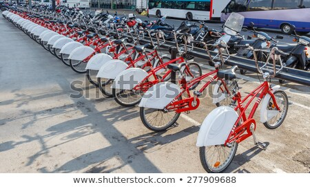 motosiklet · park · boş · otopark · hizmet · trafik - stok fotoğraf © nobilior