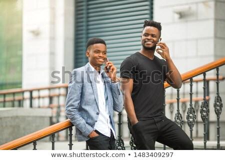 zakenvrouw · praten · telefoon · witte · business - stockfoto © photography33