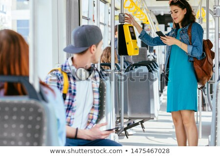 Woman waiting for the tram Stock photo © photography33
